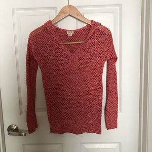 Mossimo light pullover sweater, red, XS